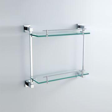 bathroom bath shelves modern contemporary chrome. Black Bedroom Furniture Sets. Home Design Ideas