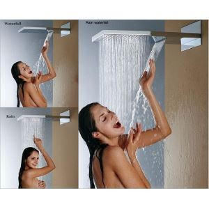 High Pressure Rain Shower Head Thin Square 55×38 CM A Grade ABS Chrome Finish Wall Mounted