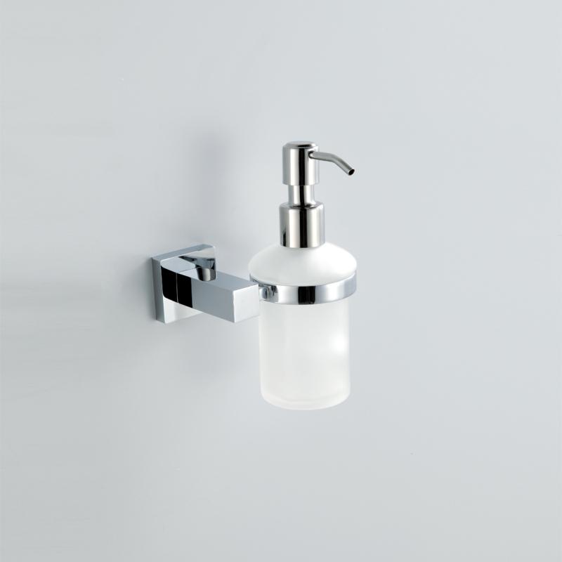 Bathroom - Soap Holders - Modern Contemporary Chrome Finish Liquid Soap Dispenser Rack Silver Wall Mounted Brass Soap Holder