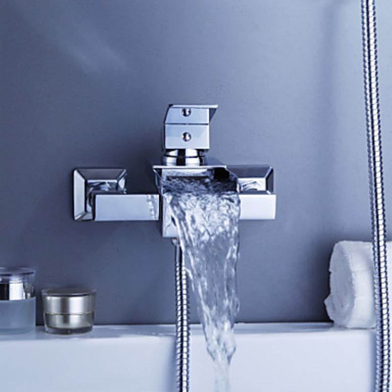 Contemporary Waterfall Tub Faucet Wall Mount