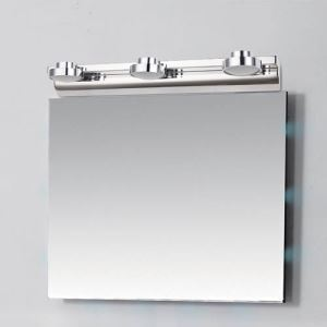 Modern Chrome Finish 2W 3W LED Mirror Wall Light with Acrylic Shade Energy Saving