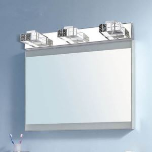 Modern Contemporary 9W ked Mirror Wall Light with Rectangular Crystal Shade