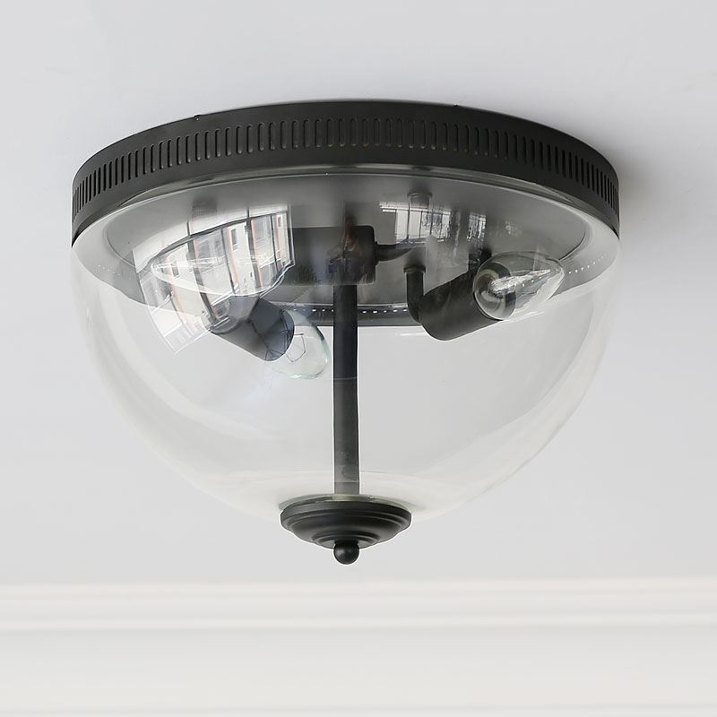 clear glass flush mount ceiling light | campernel designs