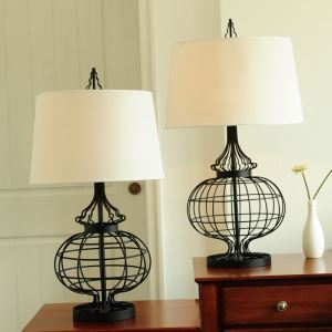 40W E26/E27 Modern Contemporary Hardware & Fabric Table Lamp