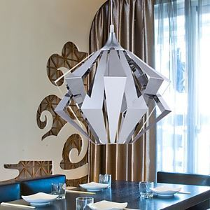1 - Light Modern Pendant Light in Geometrical Feature