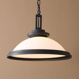 40W E26/E27 Country Light Black Chandelier Pendant Light Iron & Glass ceiling lights (Chain Adjustable)