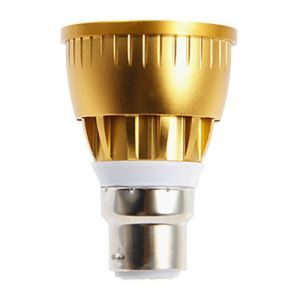 B22  LED Spotlight Gold Color