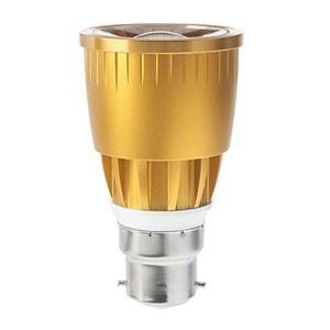 B22 LED Spotlight Gold Color