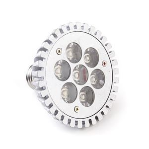 E27 LED PAR Light Silver Color