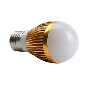 E27 led Light Bulb 3W 400lm 180°SMD 5050 AC85-265V Golden Led Globe Bulb