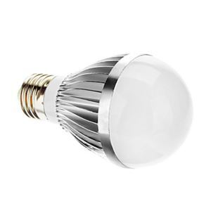 E27 led Light Bulb 3W 400lm Beam Angle 180°SMD 5050 AC85-265V Silver Led Globe Bulb