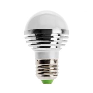 E27 led Light Bulb 3W 240lm Bean Angle 180°SMD 5050 AC85-265V Silver Led Globe Bulb