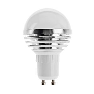 GU10 led Light Bulb 3W 240lm Beam Angle 180°SMD 5050 AC85-265V Silver Led Globe Bulb