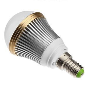 E14 led Light Bulb 3W 240lm Beam Angle 180°SMD 5050 KAC85-265V Silver Led Globe Bulb