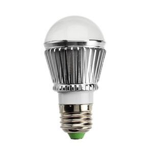 E27 led Light Bulb 3W 240lm Beam Angle 180°SMD 5050 AC85-265V Silver Led Globe Bulb