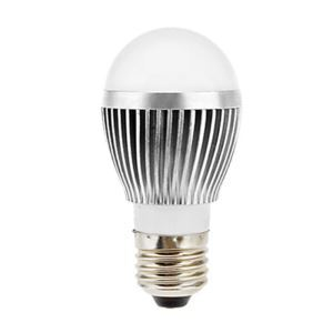E27 led Light Bulb 5W 560lm Beam Angle 180°SMD 5050 AC85-265V Silver Led Globe Bulb