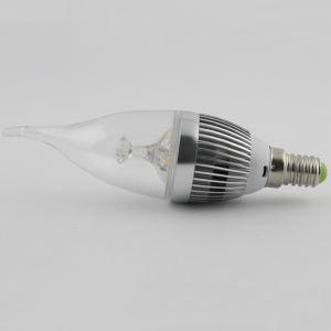 3W E12/E14 LED Candle Bulb WW/NW 270 LM AC85-265V Silver