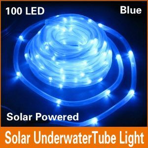 100 LED Blue Solar Outdoor Landscape Lighting Decorative LED Stripe Lights