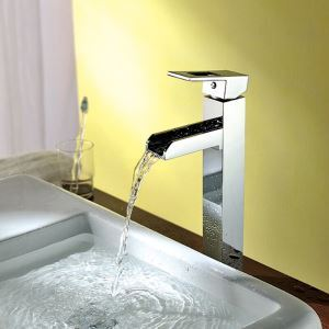 Economic Cheap 1 Hole Single Lever Wash Vertical Sink Faucet With Chrome Finished