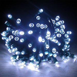 22M Solar Power 20 LEDs White String Lights Christmas Party Wedding Garden Decorative Lights
