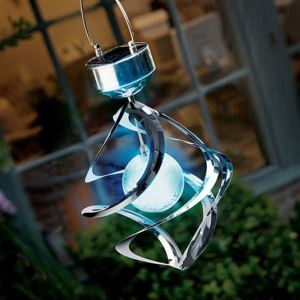 Solar LED Color Changing Saturn Featured Landscape Lighting
