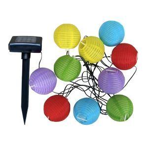 10 LEDs Lantern Pattern Solar Power Outdoor Landscape Lighting Wedding Christmas String Light