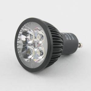 4W Black GU10 led 360LM WW AC85-265V LED Spotlights