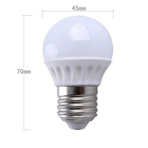 e27 3w led Ceramic 270lm WW/NW 2800-6500k AC85-265V LED Globe Bulbs