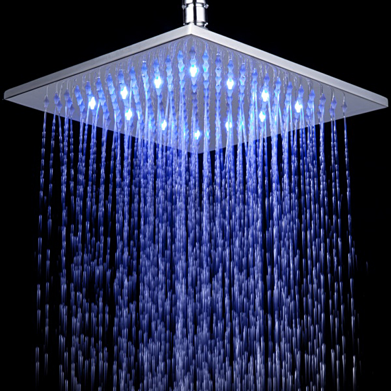 10 inch brass shower head with color changing led light. Black Bedroom Furniture Sets. Home Design Ideas