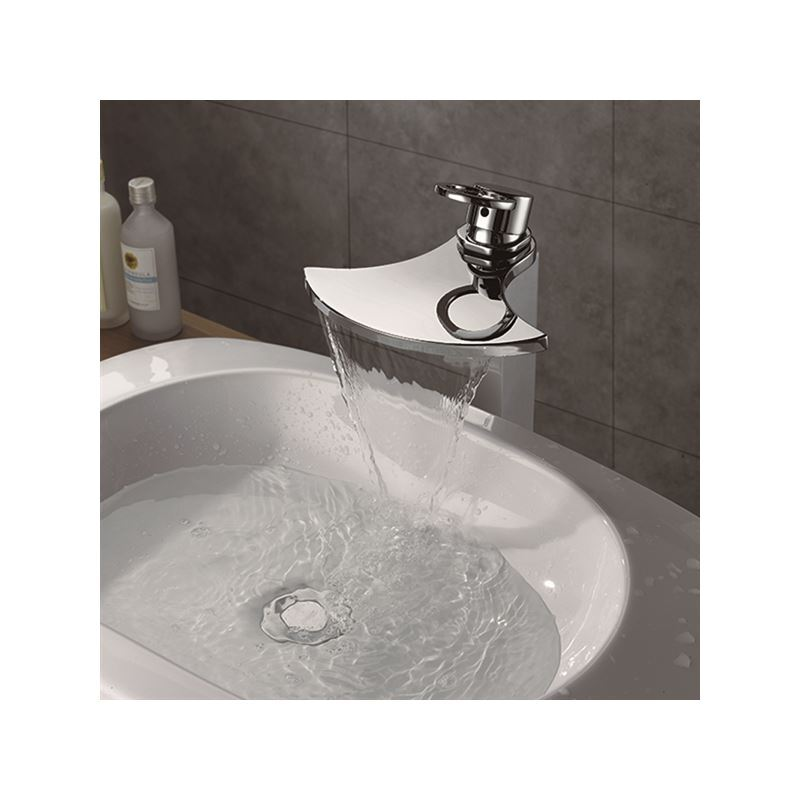 Beautiful Face Basin Waterfall Sink Water Faucet Bathroom Taps