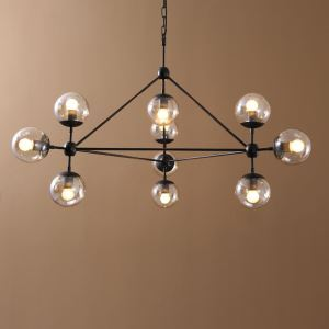 (In Stock)Simple Modern Artistic  Pendant Lights 10 lights  galss shade