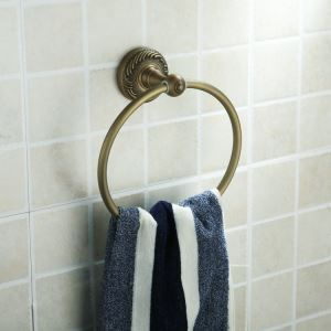 Antique Vintage Wall-mounted Brass Towel Ring