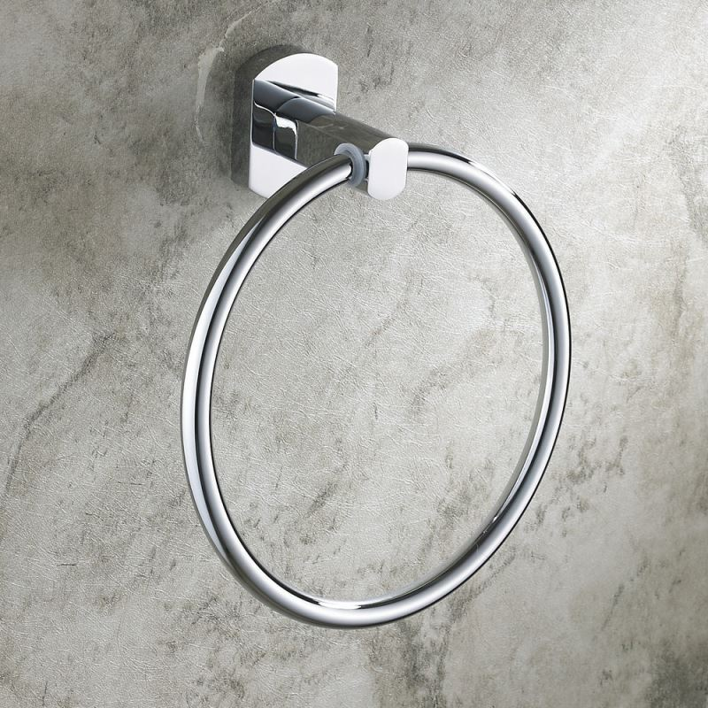 Bathroom Towel Rings Modern Contemporary Wall Mounted Chrome Colored Brass Towel Ring