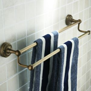 Antique Vintage Wall-mounted Double Towel Bar