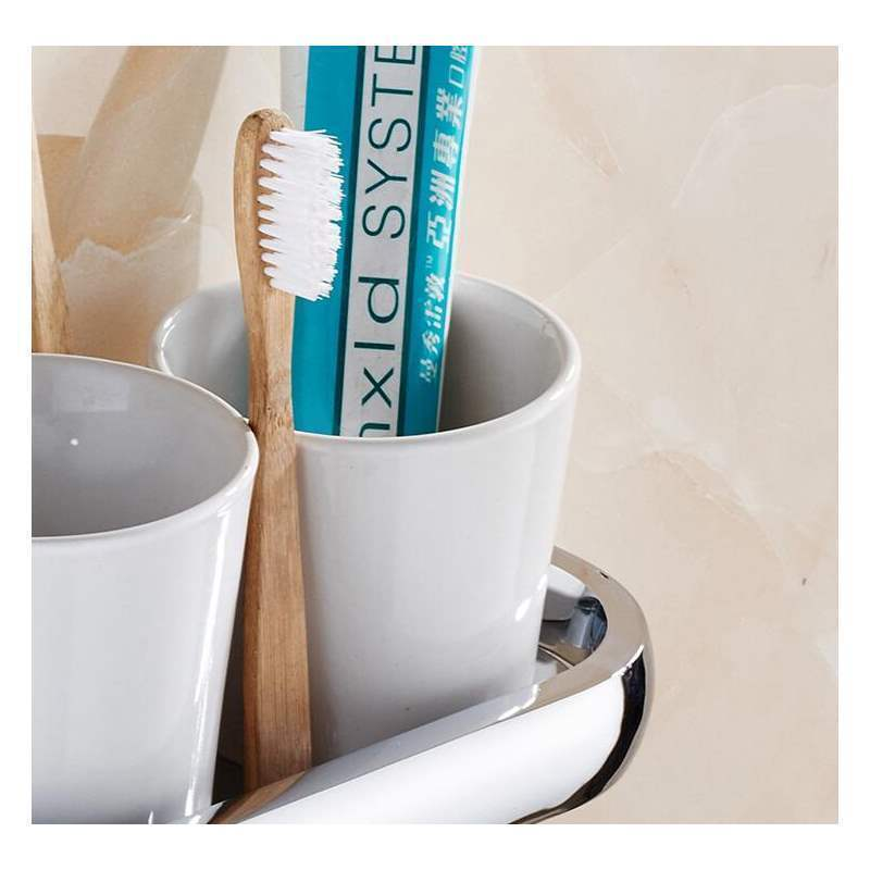 Bathroom Toothbrush Holder Modern Contemporary Chrome