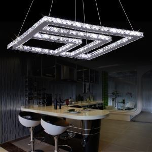 Modern Chic Stainless Steel Plating LED Crystal Pendant Light