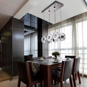3 Modern Simple Stylish Artistic Stainless Steel LED Crystal Pendant Light Energy Saving
