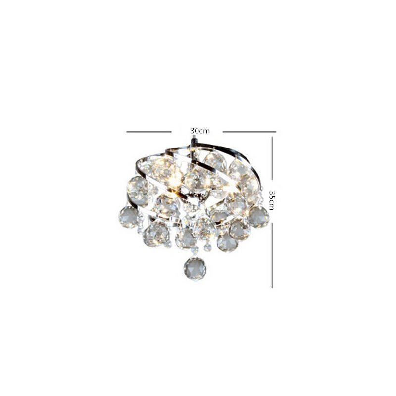Sparkling Crystal Block Ring Chandelier: Crystal Pendant Lighting 1- Light Mini Sparkling Crystal