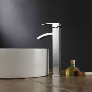 Elegant Brass Bathroom Sink Faucet - Chrome Finish (Tall)