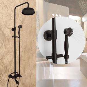 Rainfall Shower Fixture ORB Wall Mount Bathroom Shower Faucet