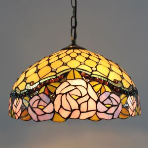 Tiffany Glass Pendent Lights with 2 Lights