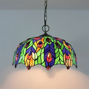Tiffany Style Glass Pendant Light