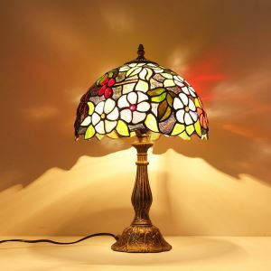 (In Stock)Tiffany Table Lamp  Floral Bronze Finish  ( 0923-TF6 )