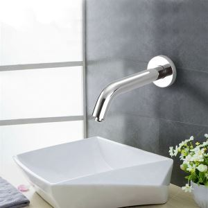 Sensor Contemporary Hands Free Bathroom Sink Faucet-Chrome Finish(Cold)
