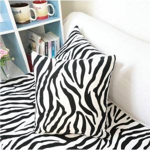 Modern Zebra Textured Cotton Decorative Pillow Cover