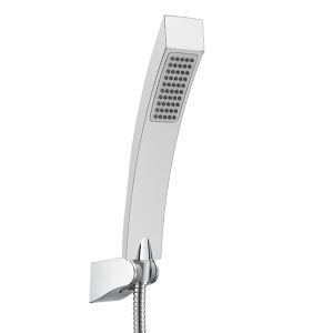 Contemporary Solid Brass Square Hanldheld Shower head(S34011-2C12-2)-Chrome Finish