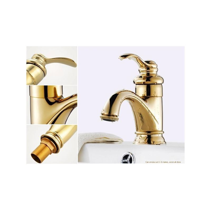 gold finish taps single handle bathroom faucets