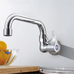 Contemporary Solid Brass Kitchen Faucet Chrome Finish 7714-238 Cold Water