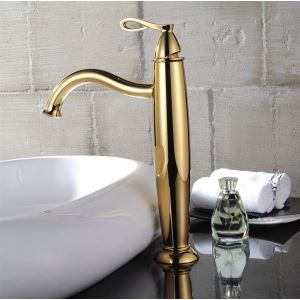 Ti-PVD Finish County Style Bathroom Sink Faucet