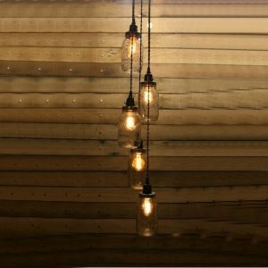 North American Retro Chandelier with 5 lights